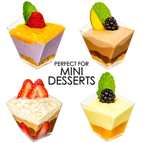 Mini Dessert Cups Funky Appetizer Bowls Amp Spoons With