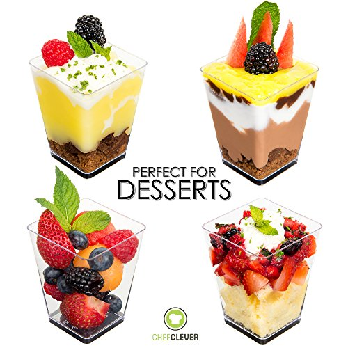 Mini Dessert Cups, Appetizer Bowls With Spoons And Recipe
